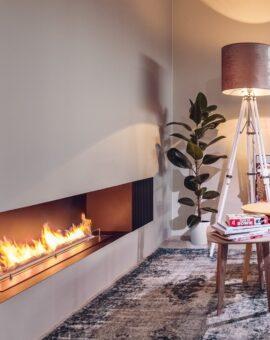 Indoor ethanol fireplaces